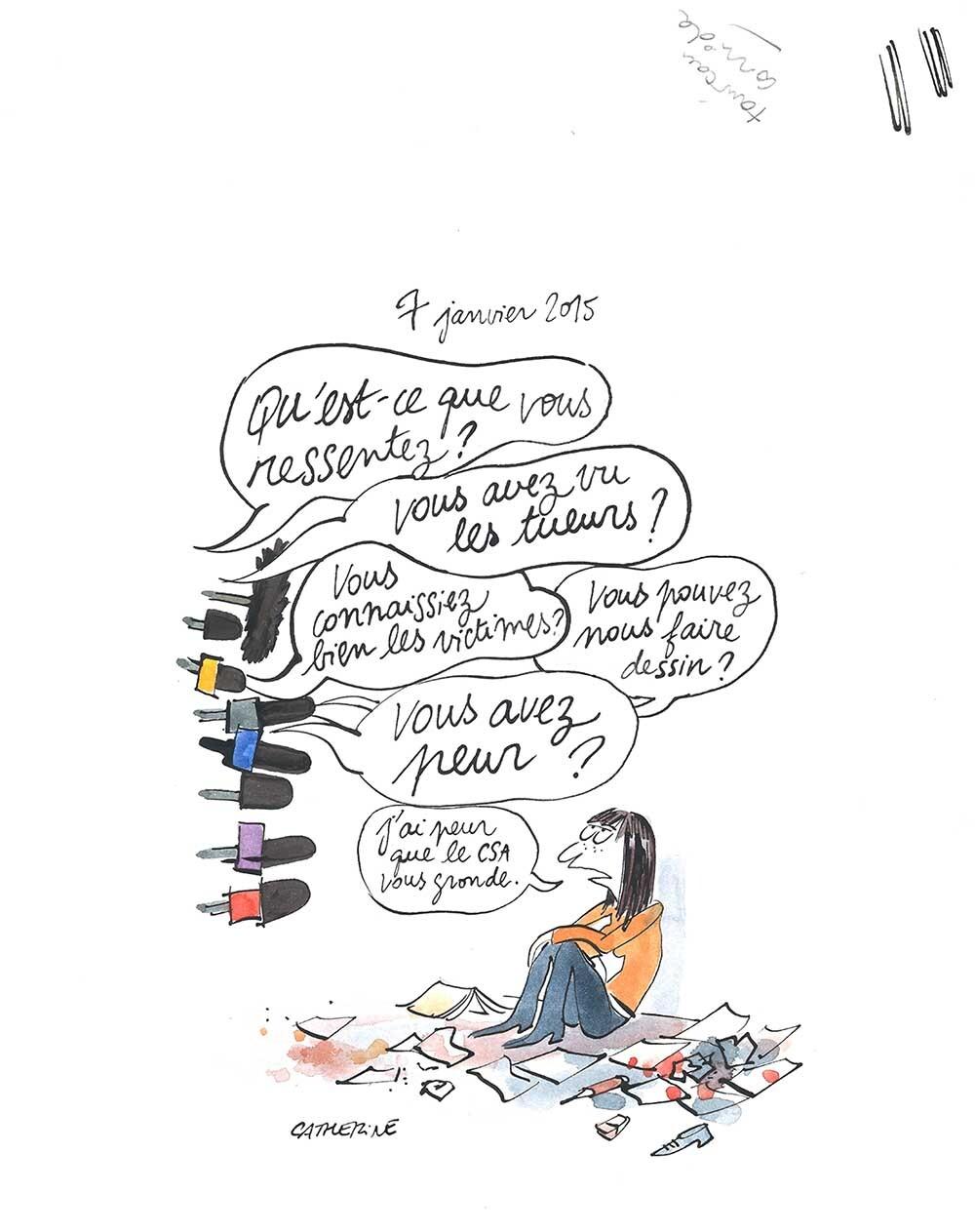 19 Catherine Meurisse 7 janvier 2015 Hintergrund bearbeitet