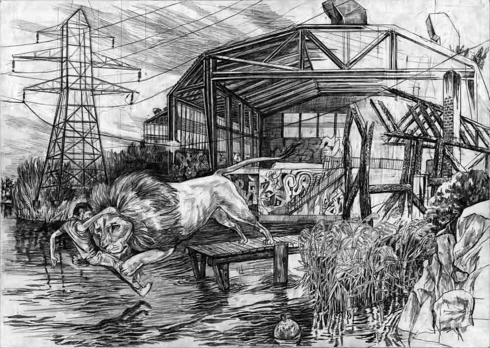 17 Fischer Traum Löwe Hintergrund Bearbeitet