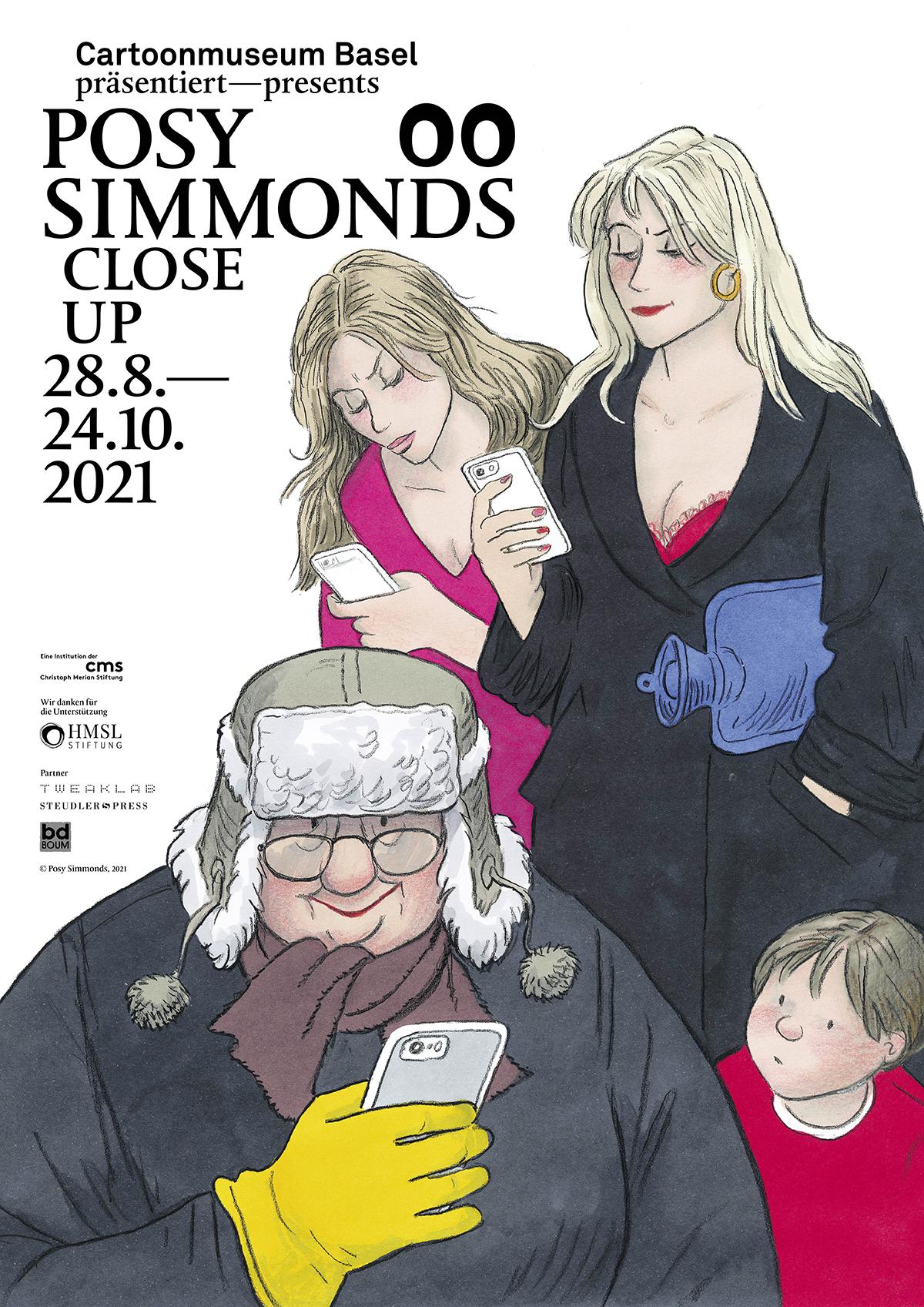 00 Ausstellungsplakat Posy Simmonds Close Up